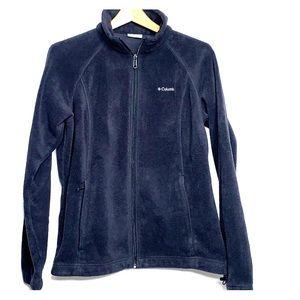 COLUMBIA • Black Fleece Zip Jacket Sweater
